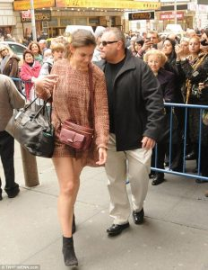 Katie Holmes with Stone Security